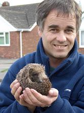Dougal Urquhart with hedgehog
