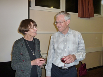 Dudley Chignall and Pam Foakes enjoying some refreshments