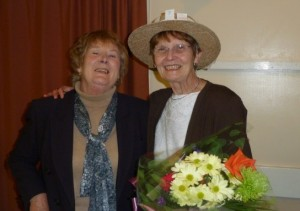Jackie Manning & Pam Foakes (with bouquet)
