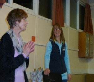 Stacey with Pam, President