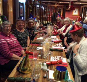 Members enjoying the Christmas Meal at the Granary