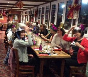 More members enjoying the Christmas Meal at the Granary