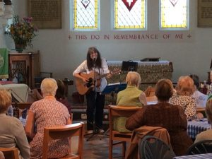 Elaine Barker with her Music & Monologues