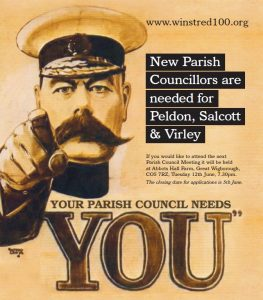 Lord Kitchener appealing for residents to help fill parish council vacancies