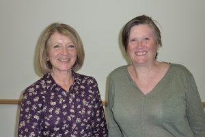 Wendy (left) with PAWS President, Caroline Wilson